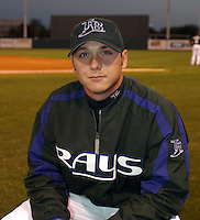 March 18 2005:  Tampa Bay Devil Rays pitcher Scott Kazmir during a game at Al Lang Field in St. Petersburg, FL.  Photo by:  Mike Janes/Four Seam Images