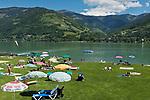 Oesterreich, Salzburger Land, Pinzgau, Zell am See: Strandbad | Austria, Salzburger Land, Pinzgau, Zell at Zeller Lake: Lido