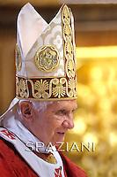 Feast of Saint Peter and Saint Paul Benedict XVI mass at St Peter's basilica. June 29, 2011