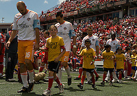 18 July 2009: Opening ceremonies at BMO Field in Toronto in an MLS game between the Toronto FC and Houston Dynamo..The game ended in a 1-1 draw..