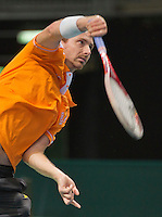 Switserland, Genève, September 16, 2015, Tennis,   Davis Cup, Switserland-Netherlands, Practise Dutch team, Matwe Middelkoop<br /> Photo: Tennisimages/Henk Koster
