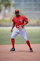 Washington Nationals Kelvin Gutierrez (11) during practice before a minor league Spring Training game against the St. Louis Cardinals on March 27, 2017 at the Roger Dean Stadium Complex in Jupiter, Florida.  (Mike Janes/Four Seam Images)