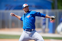 Toronto Blue Jays pitcher Patrick Murphy (54) during a Minor League Spring Training Intrasquad game on March 14, 2018 at Englebert Complex in Dunedin, Florida.  (Mike Janes/Four Seam Images)