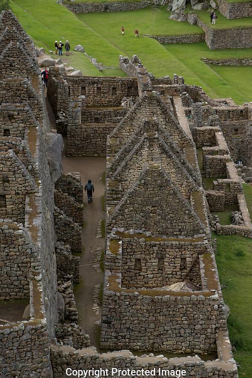 Ruins at Machupicchu.