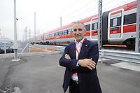 - Treviglio (Brescia), viaggio di prova sulla nuova linea Alta Velocità/Alta Capacità Treviglio-Brescia, parte integrante del Corridoio Europeo TENT-T; Renato Mazzoncini, Amministratore Delegato del gruppo FS Italiane<br /> <br /> - Treviglio (Brescia), test ride on the new line High Speed / High Capacity Treviglio-Brescia, an integral part of the European Corridor TENT-T; Renato Mazzoncini, CEO of the Italian FS Group
