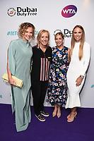 Katerina Siniakova, Martina Navratilova, Chris Evert and Caroline Wozniacki<br /> arriving for the WTA Summer Party 2019 at the Jumeirah Carlton Tower Hotel, London<br /> <br /> ©Ash Knotek  D3512  28/06/2019
