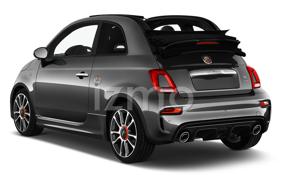 Car pictures of rear three quarter view of a 2018 Abarth 595 Turismo Base 2 Door Convertible angular rear