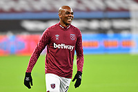 Angelo Ogbonna of West Ham United warms up during West Ham United vs Aston Villa, Premier League Football at The London Stadium on 30th November 2020