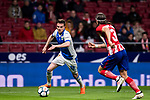 Javier Eraso Goni (L) of CD Leganes is tackled by Filipe Luis of Atletico de Madrid  during the La Liga 2017-18 match between Atletico de Madrid and CD Leganes at Wanda Metropolitano on February 28 2018 in Madrid, Spain. Photo by Diego Souto / Power Sport Images