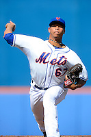 New York Mets pitcher Hansel Robles #67 during an exhibition game against the Michigan Wolverines at Tradition Field on February 24, 2013 in St. Lucie, Florida.  New York defeated Michigan 5-2.  (Mike Janes/Four Seam Images)