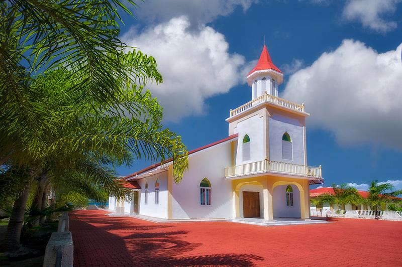 Anau Maohi Prtestant Church. Bora Bora. French Polynesia.