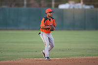 AZL Giants Orange shortstop Anyesber Sivira (32) during an Arizona League game against the AZL Athletics at Lew Wolff Training Complex on June 25, 2018 in Mesa, Arizona. AZL Giants Orange defeated the AZL Athletics 7-5. (Zachary Lucy/Four Seam Images)