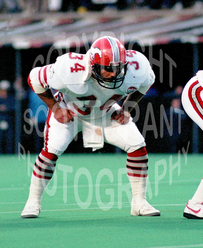 Les Kaminski Calgary Stampeders 1984. Photo F. Scott Grant