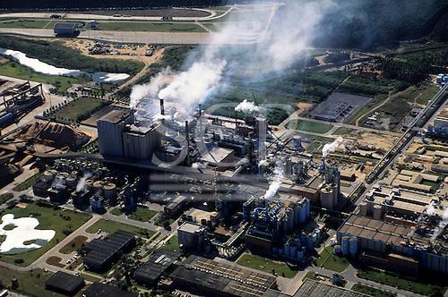 Vitoria, Brazil. Aerial view of the Aracruz paper factory.