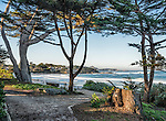 """The beach at Carmel at sunrise on a Sunday morning, as seen from the """"Scenic Road."""""""