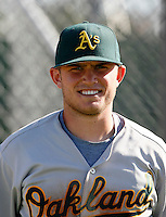 Max Stassi - Oakland Athletics 2009 Instructional League.Photo by:  Bill Mitchell/Four Seam Images..