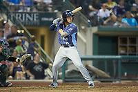 Nick Quintana (10) of the West Michigan Whitecaps at bat against the Fort Wayne TinCaps at Parkview Field on August 5, 2019 in Fort Wayne, Indiana. The TinCaps defeated the Whitecaps 9-3. (Brian Westerholt/Four Seam Images)