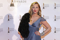 12/2/11 Laura Whitmore on the red carpet at the 8th Irish Film and Television Awards at the Convention centre in Dublin. Picture:Arthur Carron/Collins