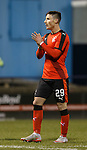 Michael O'Halloran applauds the Rangers support at full-time