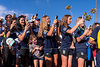 PASADENA, CA - AUGUST 3: Volunteers cheer during a game between Ireland and USWNT at Rose Bowl on August 3, 2019 in Pasadena, California.