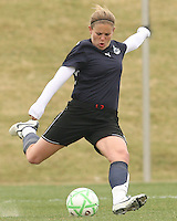 Cat Whitehill of the Washington Freedom winds up to clear the ball during a WPS pre season match against Sky Blue F.C. at Maryland Soccerplex,in Boyd's, Maryland on March 14 2009. Sky Blue won the match 1-0