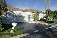 Curb side view of classic Palm Springs home