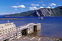 Newfoundland, NF, Canada, Gros Morne National Park from Boone Bay at Morris Point.