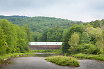 The Lincoln covered Bridge in West Woodstock, VT, USA