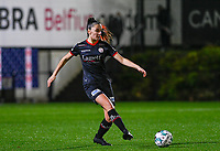 Romy Camps (3) of Zulte-Waregem pictured during a female soccer game between Sporting Charleroi and SV Zulte-Waregem on the 12 th matchday of the 2020 - 2021 season of Belgian Scooore Womens Super League , friday 29 th of January 2021  in Marcinelle , Belgium . PHOTO SPORTPIX.BE | SPP | DAVID CATRY
