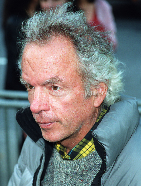 """Spalding Gray arriving at the New York premiere of """"Hollywood Ending."""" April 23, 2002. Please byline: Alecsey Boldeskul/NY Photo Press.   ..*PAY-PER-USE*      ....NY Photo Press:  ..phone (646) 267-6913;   ..e-mail: info@nyphotopress.com"""