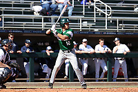 CARY, NC - FEBRUARY 23: AJ Medrano #12 of Wagner College waits for a pitch during a game between Wagner and Penn State at Coleman Field at USA Baseball National Training Complex on February 23, 2020 in Cary, North Carolina.