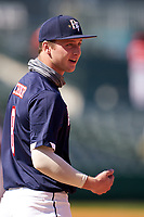 Cody Schrier (8) during the Baseball Factory All-Star Classic at Dr. Pepper Ballpark on October 4, 2020 in Frisco, Texas.  Cody Schrier (8), a resident of San Clemente, California, attends JSerra Catholic High School.  (Ken Murphy/Four Seam Images)