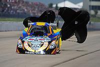 May 21, 2011; Topeka, KS, USA: NHRA funny car driver Jim Head during the Summer Nationals at Heartland Park Topeka. Mandatory Credit: Mark J. Rebilas-