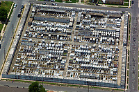 aerial photograph of a cemetary in New Orleans, Louisiana