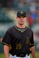 Bradenton Marauders Logan Stoelke (19) after a Florida State League game against the Palm Beach Cardinals on May 10, 2019 at LECOM Park in Bradenton, Florida.  Bradenton defeated Palm Beach 5-1.  (Mike Janes/Four Seam Images)