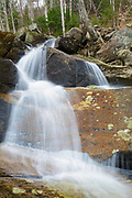 Cascade along Clough Mine Brook, a tributary of Lost River, in Kinsman Notch of Woodstock, New Hampshire during the spring months.