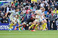 Gerhard Vosloo of ASM Clermont Auvergne charges for the line during the Heineken Cup semi-final match between Saracens and ASM Clermont Auvergne at Twickenham Stadium on Saturday 26th April 2014 (Photo by Rob Munro)