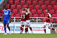 5th September 2020; PTS Academy Stadium, Northampton, East Midlands, England; English Football League Cup, Carabao Cup, Northampton Town versus Cardiff City; Matt Warburton of Northampton Town celebrates after he scores for 2-0