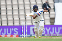 Rohit Sharma of India square drives for four runs during India vs New Zealand, ICC World Test Championship Final Cricket at The Hampshire Bowl on 19th June 2021