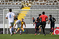GUADALAJARA, MEXICO - MARCH 18: David Ochoa #20 of the United States makes a save on Adrian Martinez #16 of Costa Rica during a game between Costa Rica and USMNT U-23 at Estadio Jalisco on March 18, 2021 in Guadalajara, Mexico.