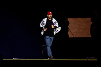 25 March 2019: Former Montreal Expo outfielder Larry Walker is introduced during the pre-game ceremonies commemorating the 50-year anniversary of the Expos prior to an exhibition game between the Toronto Blue Jays and the Milwaukee Brewers at Olympic Stadium in Montreal, Quebec, Canada. The Brewers defeated the Blue Jays 10-5 in the first of two MLB pre-season games in the former home of the Montreal Expos. Mandatory Credit: Ed Wolfstein Photo *** RAW (NEF) Image File Available ***