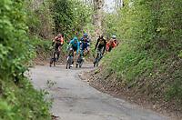 early breakaway group <br /> <br /> 52nd Amstel Gold Race (1.UWT)<br /> 1 Day Race: Maastricht › Berg en Terblijt (264km)