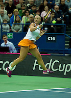 Moskou, Russia, Februari 7, 2016,  Fed Cup Russia-Netherlands, Kiki Bertens (NED)<br /> Photo: Tennisimages/Henk Koster