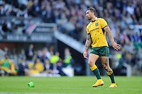 Quade Cooper of Australia watches his conversion attempt during the Killik Cup match between Barbarians and Australia at Twickenham Stadium on Saturday 1st November 2014 (Photo by Rob Munro)