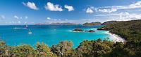 Trunk Bay panorama, St John<br /> Virgin Island National Park