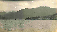BNPS.co.uk (01202 558833)<br /> Pic: Lawrences/BNPS<br /> <br /> Lake Garda in Italy<br /> <br /> It's Top-hat Gear...<br /> <br /> Photos documenting three middle-aged men's European road trip that resembles an Edwardian version of Top Gear has come to light 109 years later.<br /> <br /> The trio of upper class Brits spent two months driving from Britain to Venice in Italy in a luxury motor car in 1910.<br /> <br /> They stopped off at glamorous spots along the way including Nice, Monte Carlo and Lake Como.
