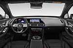 Stock photo of straight dashboard view of a 2019 Mercedes Benz EQC AMG-Line 5 Door SUV