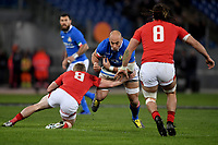 Sergio Parisse Italy, Dan Bigger and Josh Navidi Wales.<br />  <br /> Roma 9-02-2019 Stadio Olimpico<br /> Rugby Six Nations tournament 2019  <br /> Italy - Wales <br /> Foto Antonietta Baldassarre / Insidefoto
