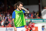 Aberdeen v St Johnstone…18.09.21  Pittodrie    SPFL<br />Sub Stevie May warming up during half time<br />Picture by Graeme Hart.<br />Copyright Perthshire Picture Agency<br />Tel: 01738 623350  Mobile: 07990 594431