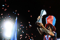 "San Lorenzo de Almagro celebrate after winning ""Torneo de Apertura"" Argentina's title .<br /> Festeggiamenti del San Lorenzo de Almagro, la squadra cui tifa il Papa, dopo la vittoria del Torneo di Apertura 2013. <br /> Buenos Aires 15-12-2013 Stadium Jose Amalfitani <br /> Foto Cezaro De Luca / Insidefoto"